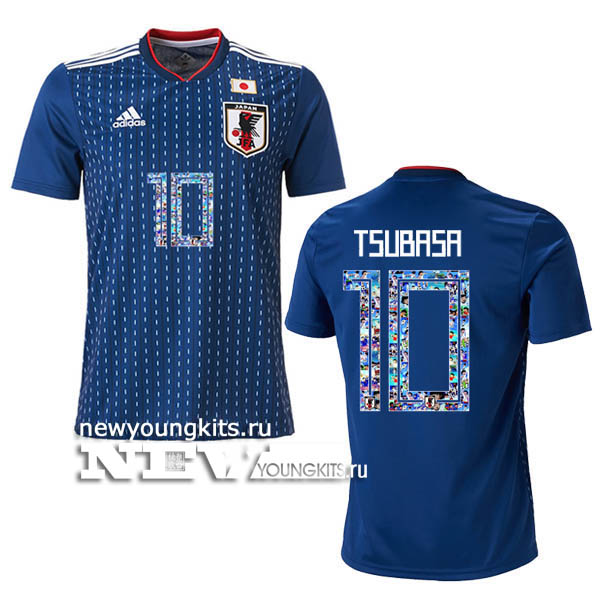 8606d946a 2018 World Cup Japan home jersey Special Print TSUBASA 10 -  19.00 ...